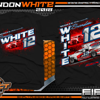 Brandon White Pavement Modified Indiana Race Shirts Black