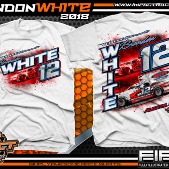 Brandon White Pavement Modified Indiana Race Shirts White