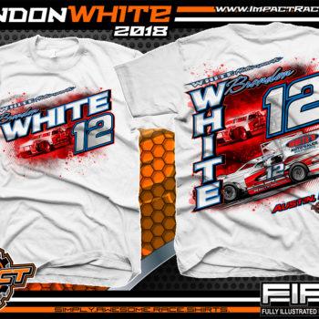 Brandon White Pavement Modified Indiana Race Shirts White