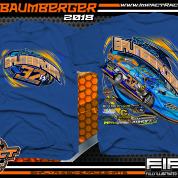 Brian Baumberger Lucas Oil Dirt Late Model Racing Shirts Royal