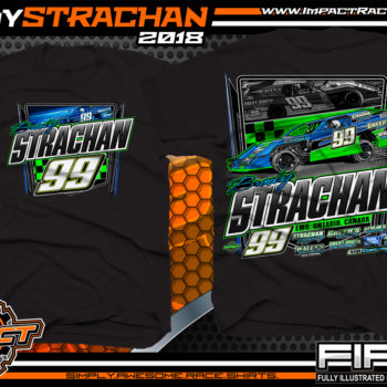 Brody Strachan USMTS Dirt Track Modified Racing Shirts Canada Black