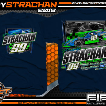 Brody Strachan USMTS Dirt Track Modified Racing Shirts Canada Navy