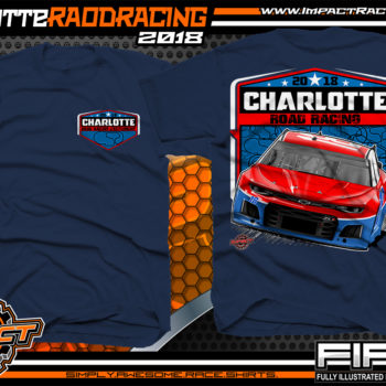 Charlotte Motor Speedway Road Course 2018 Pavement Racing Event T-Shirts Navy
