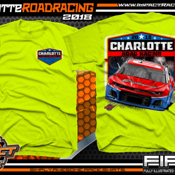 Charlotte Motor Speedway Road Course 2018 Pavement Racing Event T-Shirts Safety Yellow