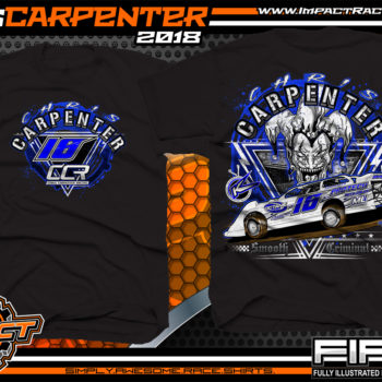 Chris Carpenter Kryptonite Race Cars Ohio Valley Lucas Oil Dirt Late Model Racing Shirts West Virginia Black