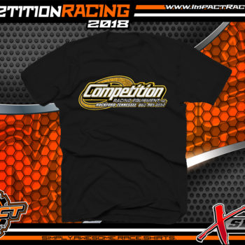 Competition Racing T-Shirts for Racing Industry Suppliers Tennessee Black