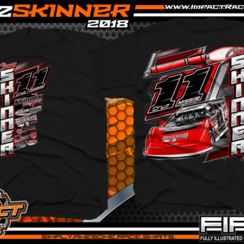 Cruz Skinner NeSmith Dirt Late Model Racing Shirts Black