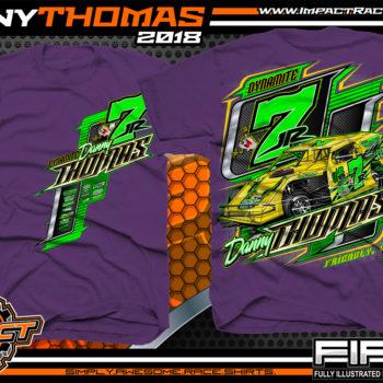 Danny Thomas Dirt Track Modified Racing Shirts West Virginia Purple
