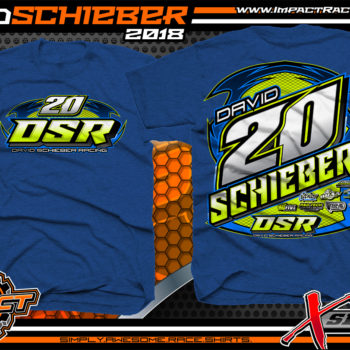 David Scheiber Asphalt Late Model Racing Shirts Antique Royal