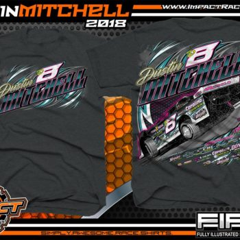 Dustin Mitchell North Carolina Dirt Late Model Lucas Oil Racing Shirts Dark Heather