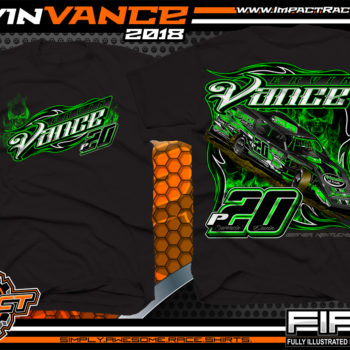 Ervin Vance Kentucky UMP Dirt Modified Racing Shirts Black