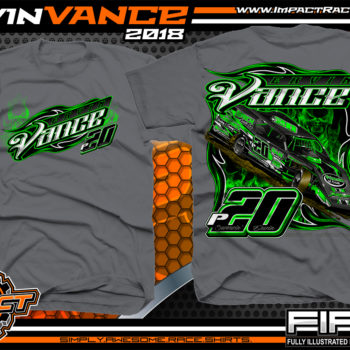 Ervin Vance Kentucky UMP Dirt Modified Racing Shirts Charcoal