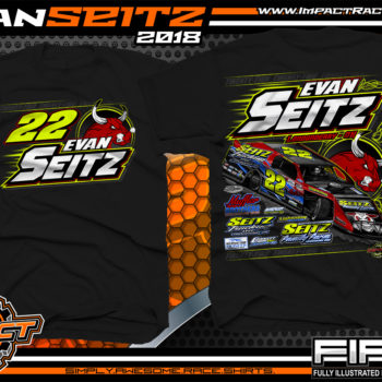 Evan Seitz Ohio UMP Modified Dirt Track Racing T-Shirts Black
