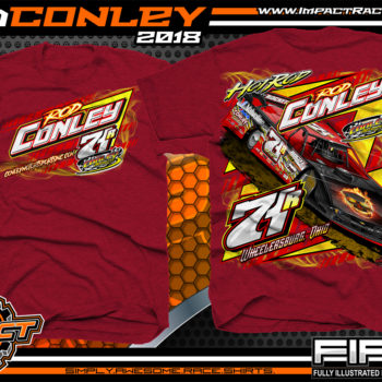 Hot Rod Conley Ohio Lucas Oil Atomic Speedway Dirt Late Model Racing Shirts Antique Cherry