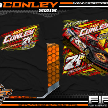 Hot Rod Conley Ohio Lucas Oil Atomic Speedway Dirt Late Model Racing Shirts Black