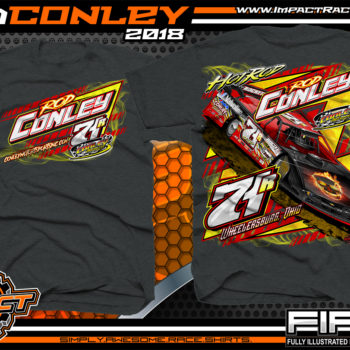 Hot Rod Conley Ohio Lucas Oil Atomic Speedway Dirt Late Model Racing Shirts Dark Heather