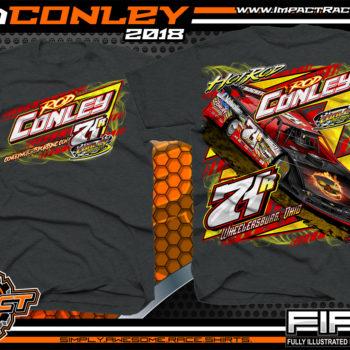 Hot Rod Conley Ohio Lucas Oil Atomic Speedway Dirt Late Model Racing Shirts Dark Heather