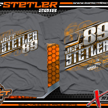 JEff Stetler Indiana Shirts for Race Teams Charcoal