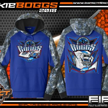 Jackie Boggs World of Outlaws Dirt Late Model Racing Shirts Performance Hoodie
