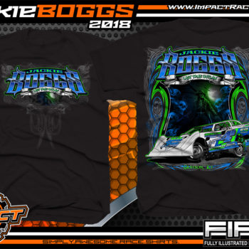 Jackie Boggs Last True Outlaw Lucas Oil Dirt Late Model World of Outlaws WOO Kentucky Dirt Late Model Shirts Black
