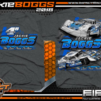 Jackie Boggs Last True Outlaw Lucas Oil Dirt Late Model World of Outlaws WOO Kentucky Dirt Late Model Shirts BlackHeather