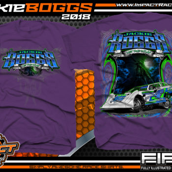 Jackie Boggs Last True Outlaw Lucas Oil Dirt Late Model World of Outlaws WOO Kentucky Dirt Late Model Shirts Purple