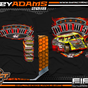 Jamey Adams UMP Modified Dirt Track Racing Shirts Black