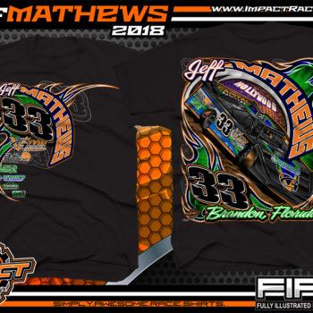 Jeff Mathews Florida Lucas Oil Dirt Late Model Racing Shrits Black