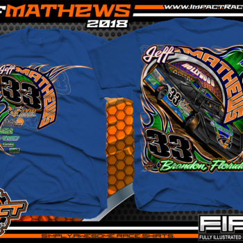Jeff Mathews Florida Lucas Oil Dirt Late Model Racing Shrits Royal