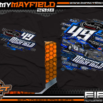 Jeremy Mayfield Dirt Late Model Race Shirts Black