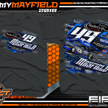 Jeremy Mayfield Dirt Late Model Race Shirts Dark Heather