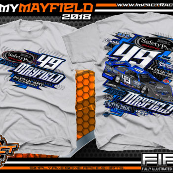 Jeremy Mayfield Dirt Late Model Race Shirts Silver