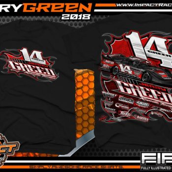 Jerry Green Southern Nationals Dirt Late Model Racing Shirts Tennessee Black