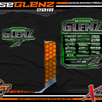 Jesse Glenz WISSOTA Dirt Late Model T-Shirts Wisconsin Black