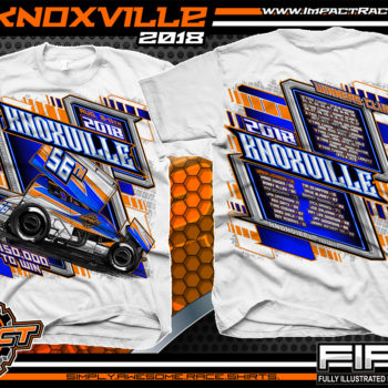 Knoxville Nationals 2018 World of Outlaws Sprint Cars Custom Event Shirts Dirt Track Racing White