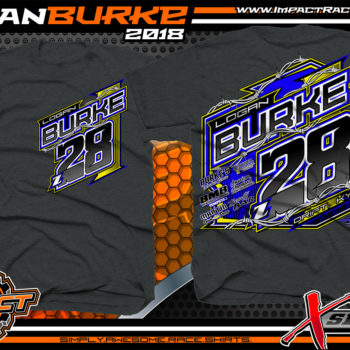 Logan Burke UMP Modified Dirt Racing Shirts Kentucky Dark Heather