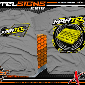 Martel Signs Tennessee Custom Race Wraps T-Shirts