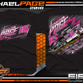 Michael Page Georgia Dixie Speedway Lucas Oil Late Model Shirts Black