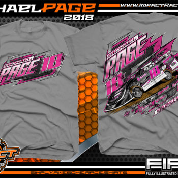 Michael Page Georgia Dixie Speedway Lucas Oil Late Model Shirts Medium Grey