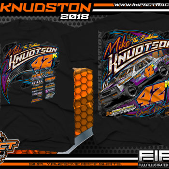 Mike Knudston WISSOTA Street Stock Dirt Racing Shirts Black