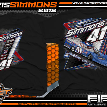 Parris Simmons Georgia Dirt Late Model Racing Shirts Black
