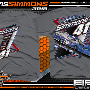 Parris Simmons Georgia Dirt Late Model Racing Shirts Charcoal