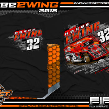 Robbe Ewing UMP Dirt Car Modified Dirt Racing Shirts Missouri Black