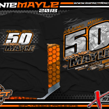 Ronnie Mayle Sweet Bloomquist Race Cars Dirt Late Model Race Shirts Ohio Black