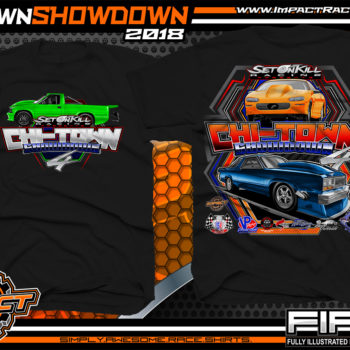 Set on Kill ChiTown Showdown Drag Racing Shirts Black