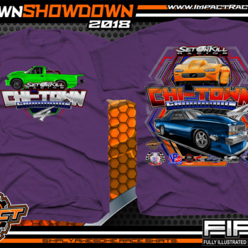 Set on Kill ChiTown Showdown Drag Racing Shirts Purple