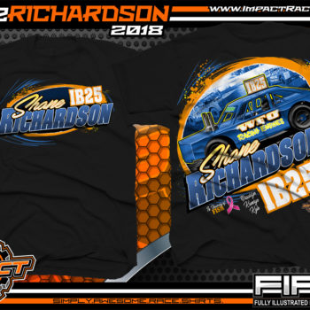 Shane Richardson Iowa Dirt Track Racing Shirts Black