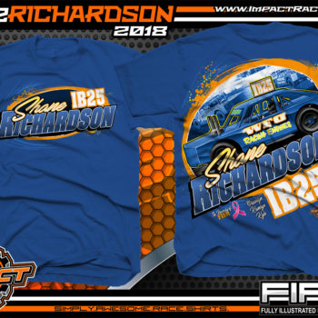 Shane Richardson Iowa Dirt Track Racing Shirts Royal
