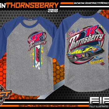 Shannon Thornsberry Portsmouth Raceway Park Lucas Oil Dirt Late Model Shirts Kentucky Raglan