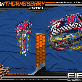 Shannon Thornsberry Portsmouth Raceway Park Lucas Oil Dirt Late Model Shirts Kentucky Royal
